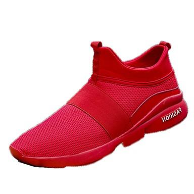 Férfi cipő Tüll Tavasz Ősz Kényelmes Sportcipők Futócipő mert Sport Fehér Fekete Szürke Piros