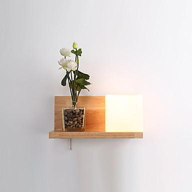 Egyszerű LED Ország Fali lámpák Kompatibilitás Fa/ Bambusz falikar 220 V 5W