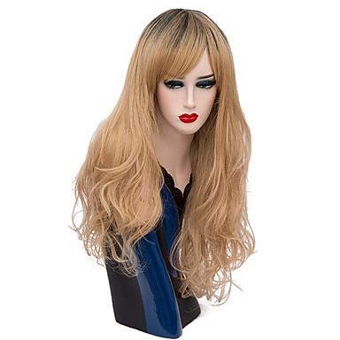 Jelmez parókák / Szintetikus parókák Mély hullám Ombre haj Szőke Női Sapka nélküli Halloween paróka Hosszú Szintetikus haj