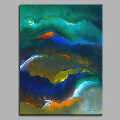Hang festett olajfestmény Kézzel festett - Absztrakt Művészi Absztrakt Modern / kortárs Vászon