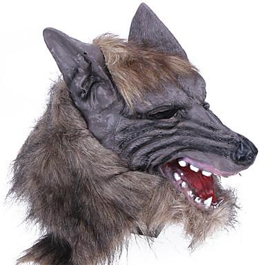 Halloween Mask Practical Joke Gadget Halloween Prop Masquerade Mask Animal Mask Novelty Wolf Head Horror Latex Rubber Pieces Unisex