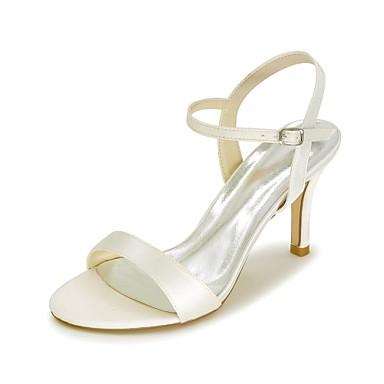 Bout Chaussures Eté Champagne Aiguille Boucle Printemps Satin Talon 06582335 ouvert Bride Bleu Escarpin Sandales Basique Orteil Femme PdpCwC
