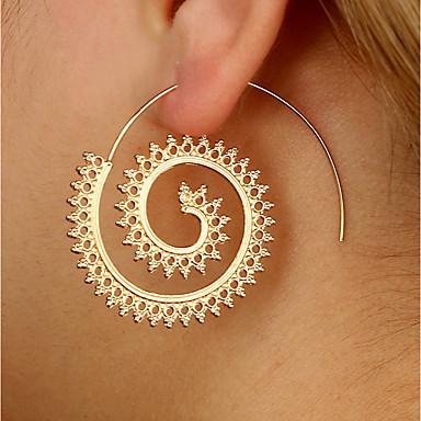 Női Francia kapcsos fülbevalók - Személyre szabott / Nyilatkozat Arany / Ezüst Geometric Shape Fülbevaló Kompatibilitás Hétköznapi /