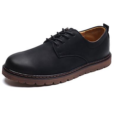 Férfi cipő PU Tavasz Ősz Könnyű talpak Kényelmes Félcipők Fűző mert Hétköznapi Fekete Barna