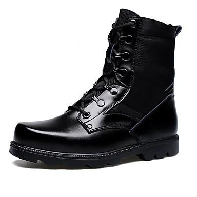 Férfi cipő Bőr Ősz / Tél Katonai csizmák Csizmák Bokacsizmák Fekete