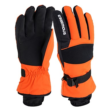 Ski Gloves Men's Full-finger Gloves Keep Warm Protective Cloth Cotton Ski / Snowboard Winter