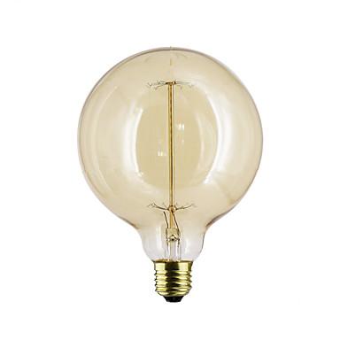 1kpl 40W E27 E26/E27 G125 Lämmin valkoinen 2300 K Lämpötilansäädin 110-130V 220V-240V V