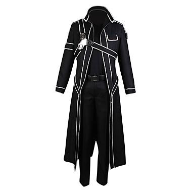 Inspiriert von SAO Alicisation Kirito Anime Cosplay Kostüme Cosplay Kostüme Solide Langarm Hosen / Handschuhe / Umhang Für Herrn / Damen