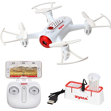 RC Drone SYMA X22W 4 Channel 6 Axis 2.4G 0.3MP 480P RC Quadcopter One Key To Auto-Return / 360°Rolling RC Quadcopter / USB Cable /