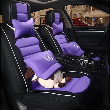 voordelige Auto-interieur accessoires-ODEER Auto-stoelhoezen Stoel hoezen Zwart / Paars Liinavaatteet Cartoon Voor Universeel Alle jaren