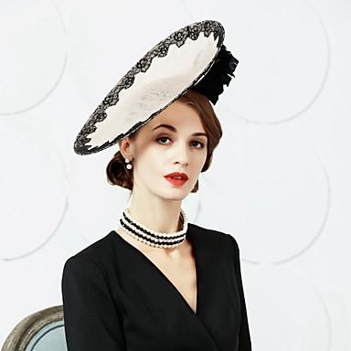 voordelige Hoeden-Vlas / Veer Kentucky Derby Hat / fascinators / hatut met 1 Bruiloft / Feest / Uitgaan Helm
