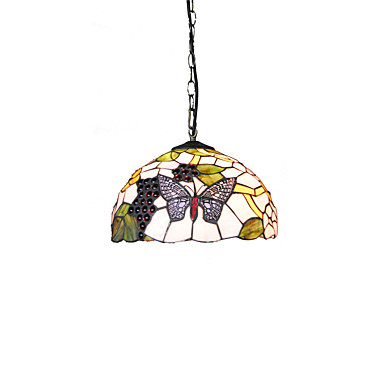 Diameter 30cm Tiffany Pendant Lights Glass Lamp Shade Living Room Bedroom Dining Room Kids Room Light Fixture