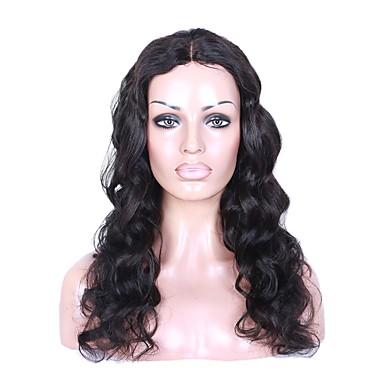 abordables Perruques Naturelles Dentelle-Cheveux humains Full Lace Perruque Cheveux Brésiliens Ondulé Perruque Coupe Dégradée Avec Mèches Avant 130% Densité des Cheveux Ligne de Cheveux Naturelle Pour Cheveux Africains 100% vierge Femme