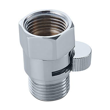 Shower Pressue Valve Solid Brass Water Control Valve Shut Off Valve for Bidet Sprayer or Shower Head Polished Chrome