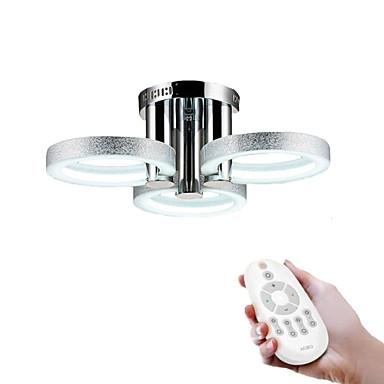 Módní a moderní LED Vestavná montáž Tlumené světlo Pro Obývací pokoj Ložnice studovna či kancelář Bílá Stmívatelné s dálkovým ovládáním