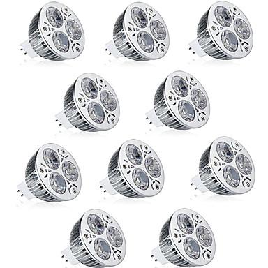 billige Elpærer-10pcs 9 W LED-spotpærer 600 lm MR16 3 LED perler Høyeffekts-LED Dekorativ Varm hvit Kjølig hvit 12 V / RoHs