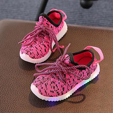 eb217e9186 Para Meninos Sapatos Tricô Verão Outono Tênis com LED Conforto Tênis LED  Cadarço para Casual Festas