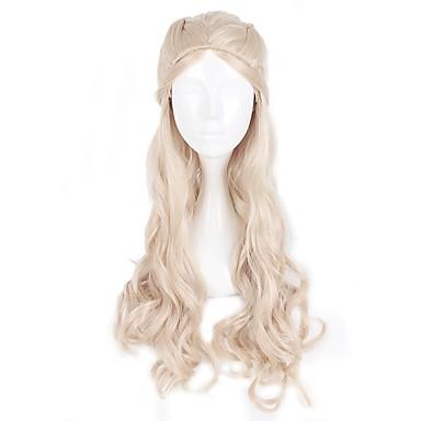 Cosplay Princesas Cosplay Hombre Mujer 30 pulgada Fibra resistente al calor Dorado Animé Pelucas de Cosplay