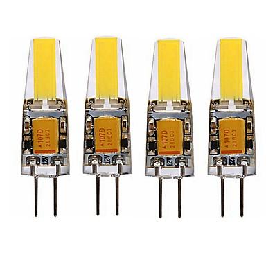 SENCART 4adet 4W 3000-3500/6000-6500 lm G4 LED Mısır Işıklar T 1 led Entegre LED Su Geçirmez Dekorotif Sıcak Beyaz Serin Beyaz AC 12V DC