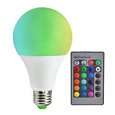 billige Elpærer-1pc 10 W 800 lm E26 / E27 Smart LED-lampe A80 6 LED perler SMD 5050 Mulighet for demping / Fjernstyrt / Dekorativ RGBW 85-265 V / RoHs
