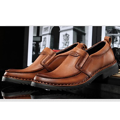 Men's Formal Shoes Nappa Leather Fall / Winter Formal Shoes Oxfords Black / Brown / Party & Evening