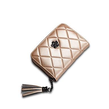 Women's Bags PU(Polyurethane) Wallet Zipper Geometric Blushing Pink / Gray / Fuchsia