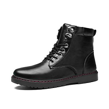 Férfi Fashion Boots Bőr Ősz / Tél Kényelmes Csizmák Fekete