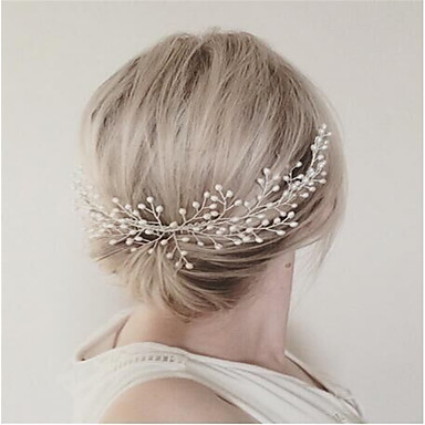 Imitation Pearl Alloy Hair Combs Headwear with Floral 1pc Wedding Special Occasion Party / Evening Headpiece