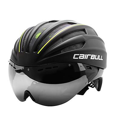 CAIRBULL Adultos Casco de bicicleta Casco Aerodinámico 28 Ventoleras CE EN 1077 Resistente a Golpes EPS, ordenador personal Deportes Ciclismo de Pista - Rojo / Verde / Azul