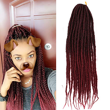 box braids ombre braiding hair synthetic hair 1pack