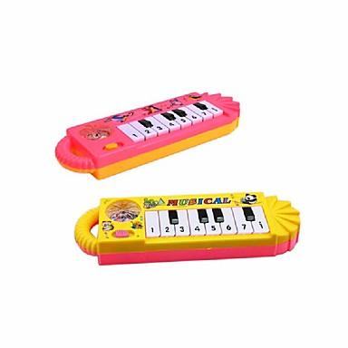 1pcs baby toddler barn tidiga pedagogiska leksaker oldtoy musikinstrument pojkar flickor mini piano leksak färg slumpmässig