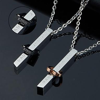 Személyre szabott ajándékot Nyaklánc Titanium Acél Páros Kortárs Egyszerű Geometrijski oblici Természet által inspirált Art Deco / Retro