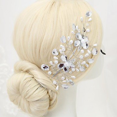 Alloy Hair Combs 1 Wedding Special Occasion Birthday Party / Evening Headpiece