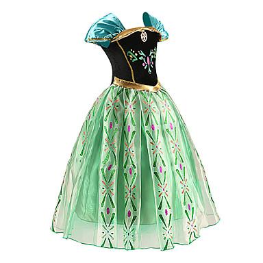 Bene Da Principessa Fiabe Costumi Cosplay Da Ragazza Cosplay Da Film Verde Abito Halloween Capodanno Chiffon Cotone #04762166 Facile Da Usare