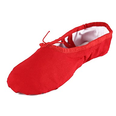 Balettcipők Vászon Talp Személyre szabható Dance Shoes Piros / Gyakorlat