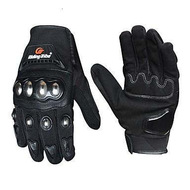 lovaglót motorkerékpár kesztyű férfi nők rozsdamentes acél kagyló érintőképernyős lovaglás motorkerékpár kesztyű gloves moto luvas gants
