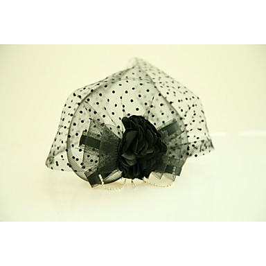 Tulle / Silk / Net Fascinators / Flowers with Feather 1 Wedding / Special Occasion / Event / Party Headpiece