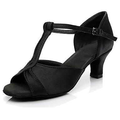 Femme Bas Chaussures Latines Matières Personnalisées Talon Talon Bas Femme Personnalisables Chaussures de danse Noir / Intérieur 38577d