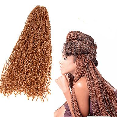 Afro / Gehäkelt / Curly Webart 100% kanekalon haare 100% kanekalon haare Afro verworren Zöpfe / Echthaar Haarverlängerungen Haar Borten Alltag