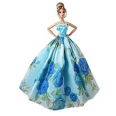 Prințesă Rochii Pentru Barbie Doll Mov Verde + Albastru + Roz + Violet Poliester Rochie Pentru Fata lui păpușă de jucărie