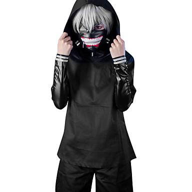 Ternos de Cosplay Inspirado por Tokyo Ghoul Ken Kaneki Anime Acessórios para Cosplay Casaco / Blusa / Calças PU Leather Homens / Mulheres novo / quente Trajes da Noite das Bruxas