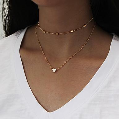 Női Rakott nyakláncok - Szív Divat Arany, Ezüst Nyakláncok Ékszerek Kompatibilitás Napi, Hétköznapi