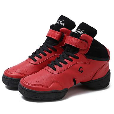 Női Tánccipők Bőr Kétrészes talp Személyre szabott sarok Személyre szabható Dance Shoes Piros