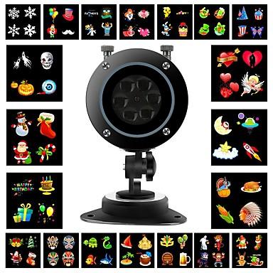 karácsonyi kivetítő lámpák 10w vezetett vetítés fény táj reflektorfény az ünnepi dekorációhoz 20 mintázatok110-240v távirányítóval