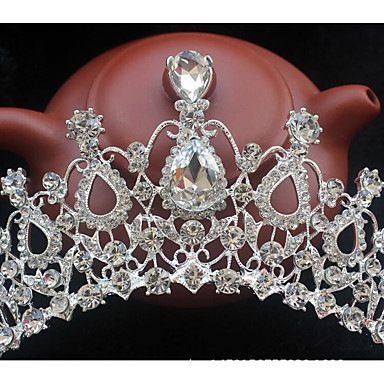Tulle / Crystal / Alloy Tiaras with Feather 1 Wedding / Party / Evening / Event / Party Headpiece