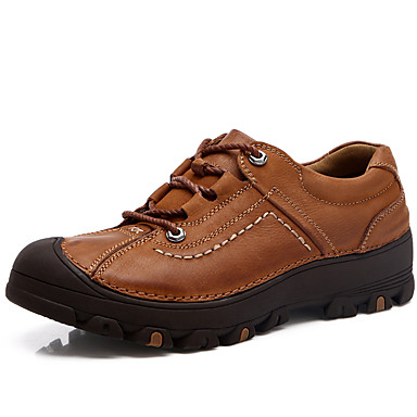 Men's Comfort Shoes Nappa Leather Fall / Winter Oxfords Black / Brown / Party & Evening