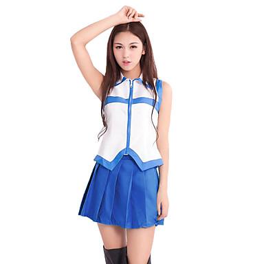 Inspirado por Fairy Tail Lucy Heartfilia Animé Disfraces de cosplay Trajes Cosplay Retazos Sin Mangas Top / Falda / Tocados Para Mujer
