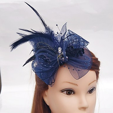 Net Fascinators Headwear Hair Pin Birdcage Veils with Floral 1pc Wedding Special Occasion Headpiece