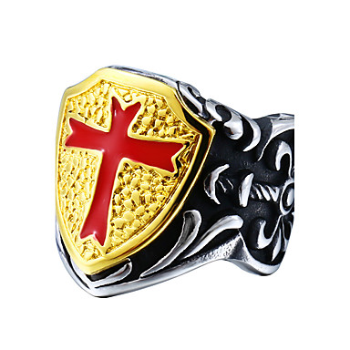 Men's Ring - Cross Cross, Fashion 7 / 8 / 9 Assorted Color For Daily / Casual