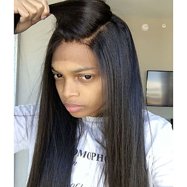 Human Hair Full Lace Wig Brazilian Hair Straight Wig Layered Haircut / With Baby Hair 130% Natural Hairline / For Black Women / 100% Virgin Women's Short / Medium Length / Long Human Hair Lace Wig
